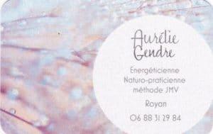 Aurélie Gendre - recto catre de visite