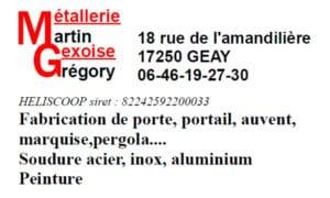 MARTIN Grégory - Carte de visite